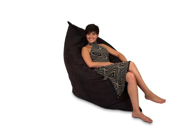 Pouf lounge noir